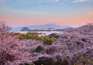 4月 天草松島と雲仙岳(熊本) 天地自然・森田敏隆写真集 2022年カレンダーの画像