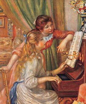 3-4月 ピアノの前の少女たち ルノワール 2022年カレンダーの画像