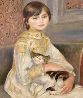11-12月 ジュリー・マネ(猫を抱く子ども) ルノワール 2022年カレンダーの画像