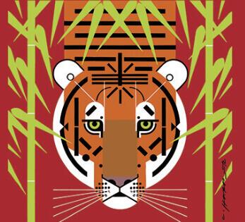 1-2月  Asian Tiger チャーリー・ハーパーの贈り物 2022年カレンダーの画像