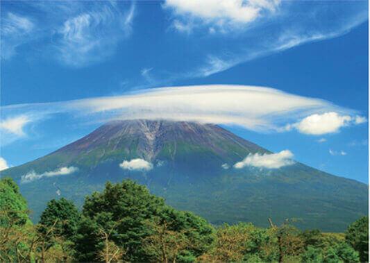 9月 笠雲と富士山(静岡) 富士十二景 2022年カレンダーの画像