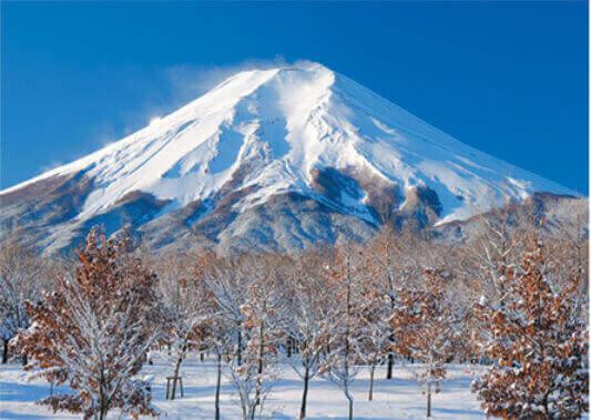 12月 富士吉田市より(静岡) 富士十二景 2022年カレンダーの画像