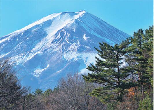 1月 富士北麓公園より(山梨) 富士十二景 2022年カレンダーの画像