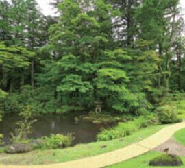 9月 日光田母沢御用邸記念公園」(栃木) 庭の詩情 2022年カレンダーの画像