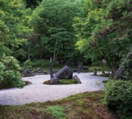 8月 定勝寺(長野) 庭の詩情 2022年カレンダーの画像